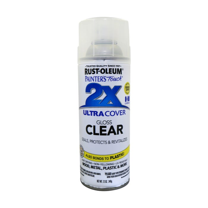 Rust-Oleum Painter's Touch 2X, Gloss Clear, Spray Paint 12 oz