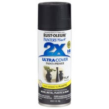Rust-Oleum Painter's Touch 2X, Flat Black, Spray Paint 12 oz