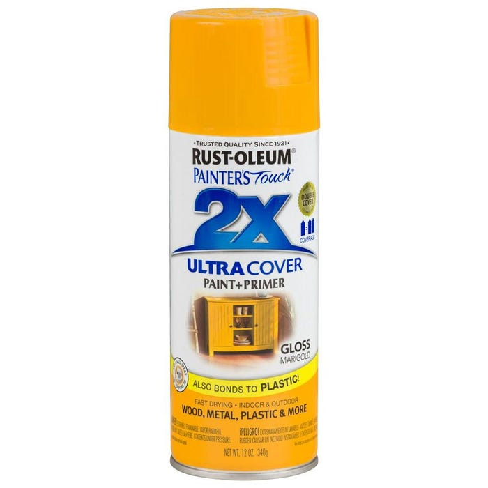 Rust-Oleum Painter's Touch 2X, Gloss Marigold, Spray Paint 12 oz