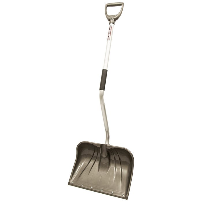 RUGG Lite-Wate 26PBSLW-S Snow Shovel and Pusher, 13 in L x 18 in W Blade, Aluminum Handle