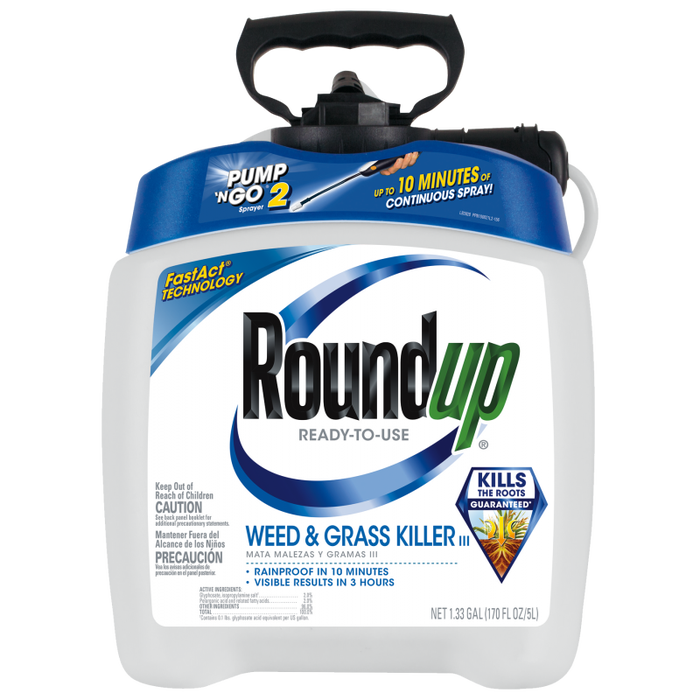Roundup® Ready-to-Use Weed & Grass Killer III with Pump 'N Go® 2 Sprayer