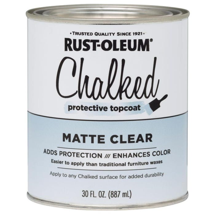 Rust-Oleum CHALKED MATTE Protective Topcoat, Matte Clear, 30 oz.