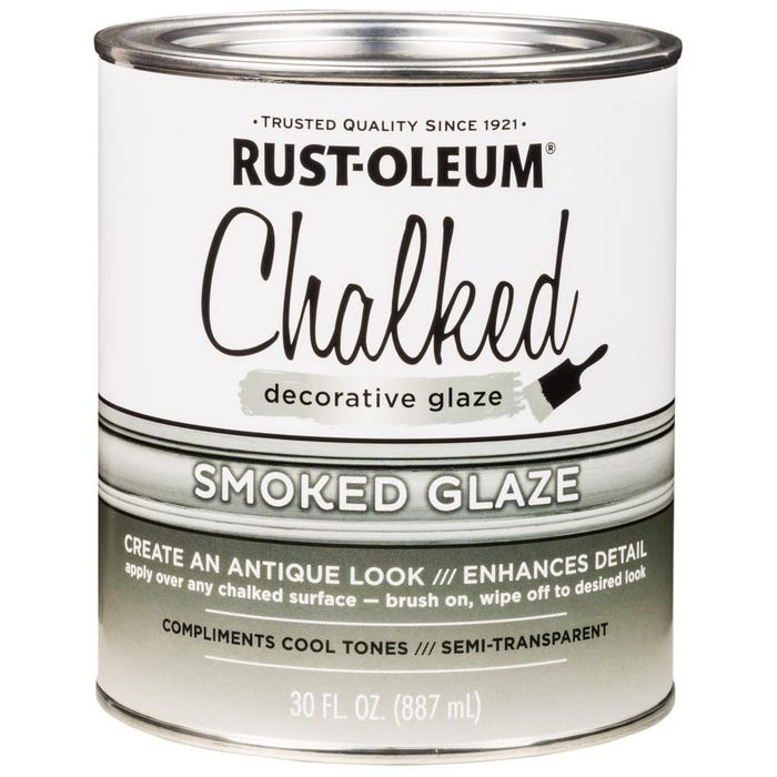 Rust-Oleum CHALKED Decorative Glaze, Smoked Glaze, 30 oz.
