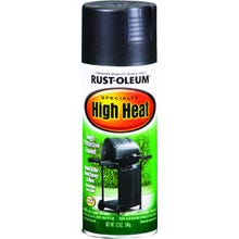 Image 1 of RUST-OLEUM 7778830 Specialty High Heat Spray Paint, Satin, Barbecue Black, 12 oz Aerosol Can