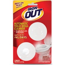 Image 1 of IRON OUT Toilet Bowl Cleaner, Solid, Pine, White