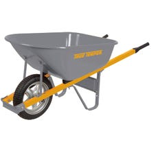 Image 2 of TRUE TEMPER R6STSP25 Wheelbarrow, 6 cu-ft Heap, 6 cu-ft Volume, Comfort-Grip Handle, Steel