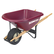 Image 1 of Scenic Road 6 Cubic Ft. Wheelbarrow w/Turf Tire, Red