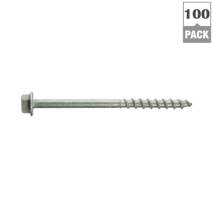 Strong-Drive® SD CONNECTOR Screw — Hex Drive, Mech. Galv. (100-Qty)