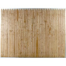 Spruce Stockade Fence, Section, 4 ft. x 8 ft.