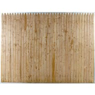 Spruce Stockade Fence, Section, 6 ft. x 8 ft.