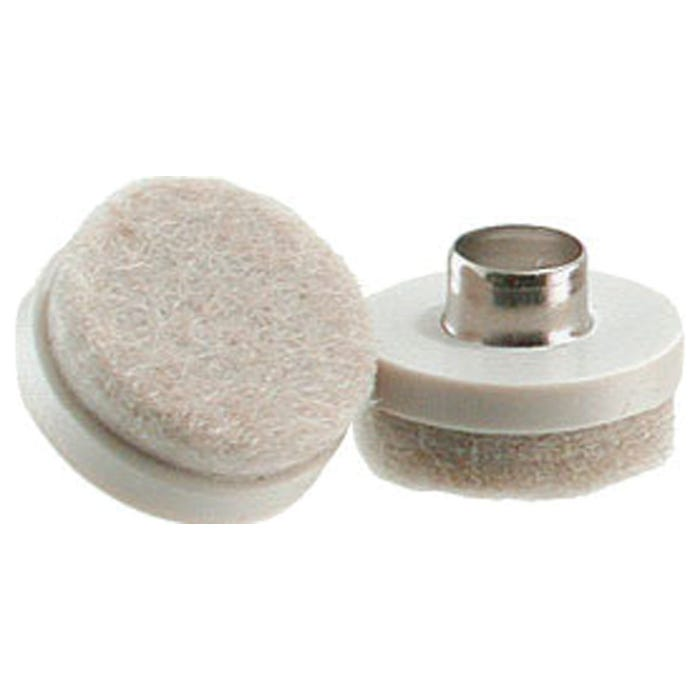 Image 2 of Shepherd Hardware 9934 Furniture Pad with Hollow Nail, Felt, Almond