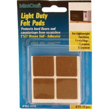 Image 2 of Prosource FE-50218-PS Furniture Pad, Felt Cloth, Brown