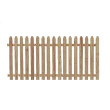 Spruce Picket Fence, 4' x 8' Section