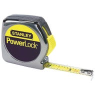 Image 1 of STANLEY 33-212 Measuring Tape, 12 ft L x 1/2 in W Blade, Steel Blade, Chrome