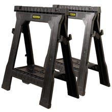 Image 1 of STANLEY FATMAX 060864R Folding Sawhorse, 1000 lb Weight Capacity, Plastic