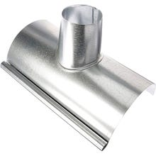Image 1 of 1/2 Round Galvanized Gutter Section w/Outlet