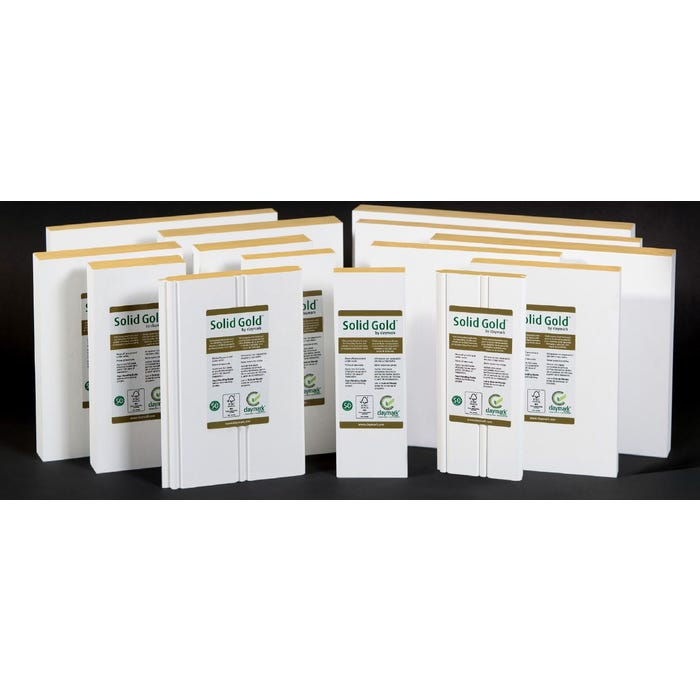 ⁵⁄₄ x 8 x 12 ft. Claymark Solid Gold Protected Primed Pine Trim Boards