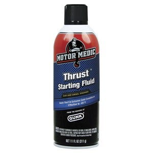 Motor Medic Thrust Starting Fluid - 11 oz.