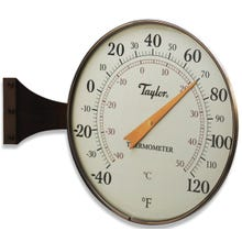 Image 2 of Taylor Outdoor Dial Thermometer, 8-1/2 in Display, -40 to 120 deg F,