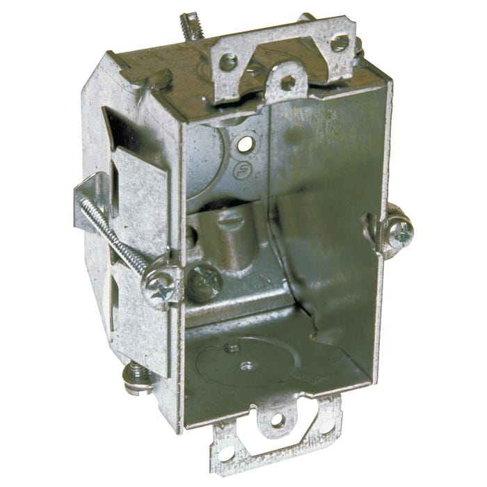 Image 2 of RACO 487 Switch Box, Steel, Gray