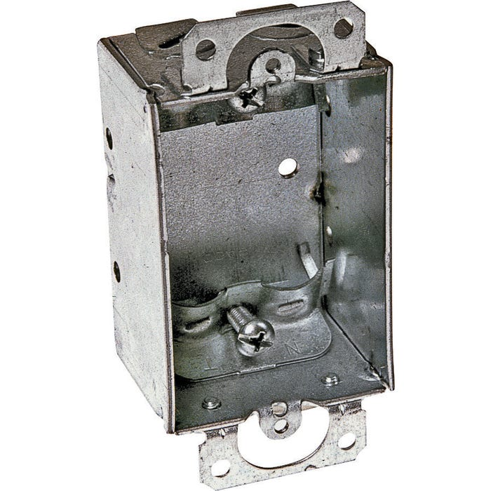 Image 2 of RACO 410 Switch Box, Steel, Gray