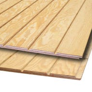 ⅝ in. Fir Texture 1-11 Plywood, 4 ft. x 8 ft. - 4 in. O.C.
