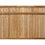T&G V-Joint Cedar Board Fence, Diamond Cut, Section, 6 ft. x 8 ft.