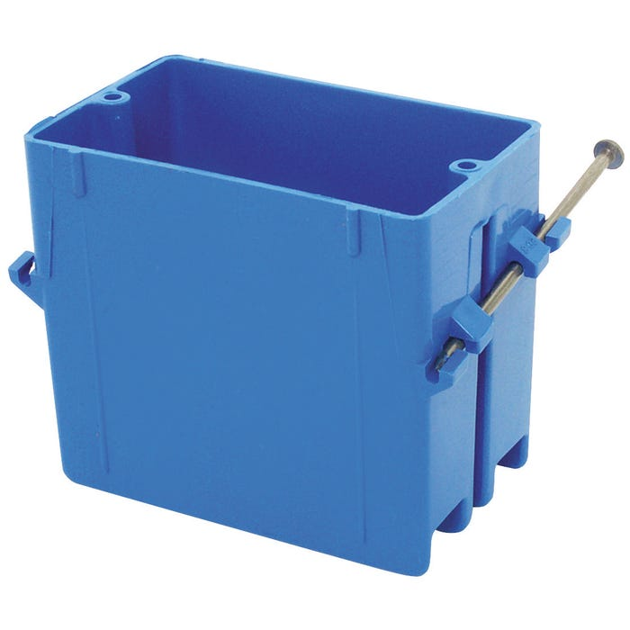 Image 2 of Carlon B120A-UPC Outlet Box, Knockout Cable Entry, 4-Knockout, Captive Nail Mounting, PVC