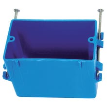 Image 2 of Carlon B118A Outlet Box, Knockout Cable Entry, 4-Knockout, Captive Nail Mounting, PVC