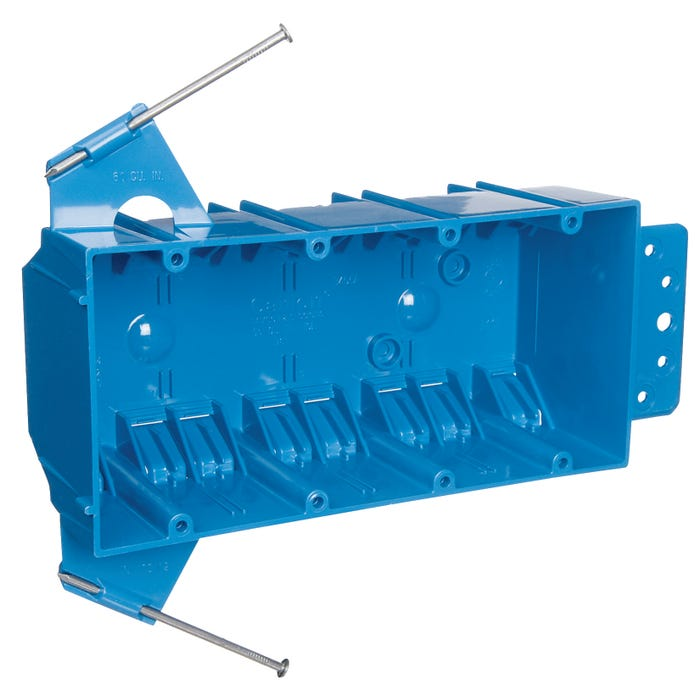 Image 2 of Carlon B455A-UPC Outlet Box, Clamp Cable Entry, Bracket Mounting, PVC