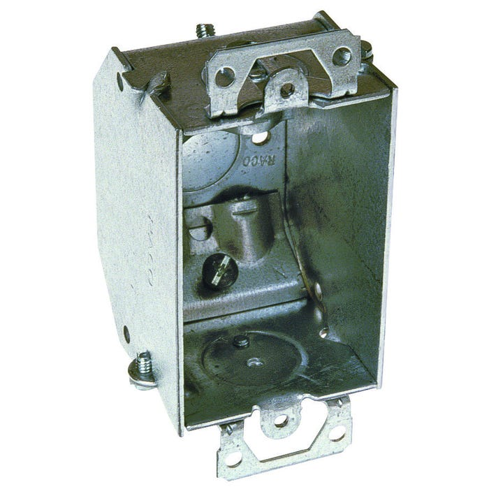 Image 2 of RACO 471 Switch Box, Steel, Gray