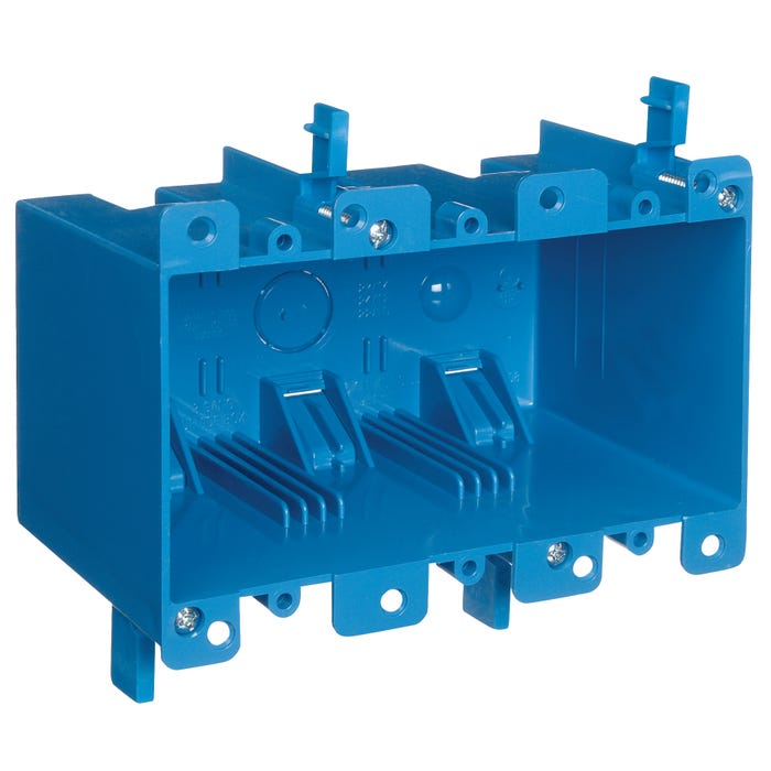 Image 2 of Carlon B355R Outlet Box, Clamp Mounting, PVC