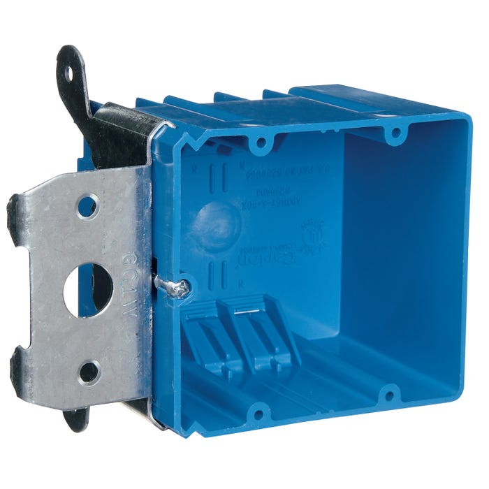 Image 2 of Carlon B234ADJ Outlet Box, Clamp Cable Entry, Bracket Mounting, PVC