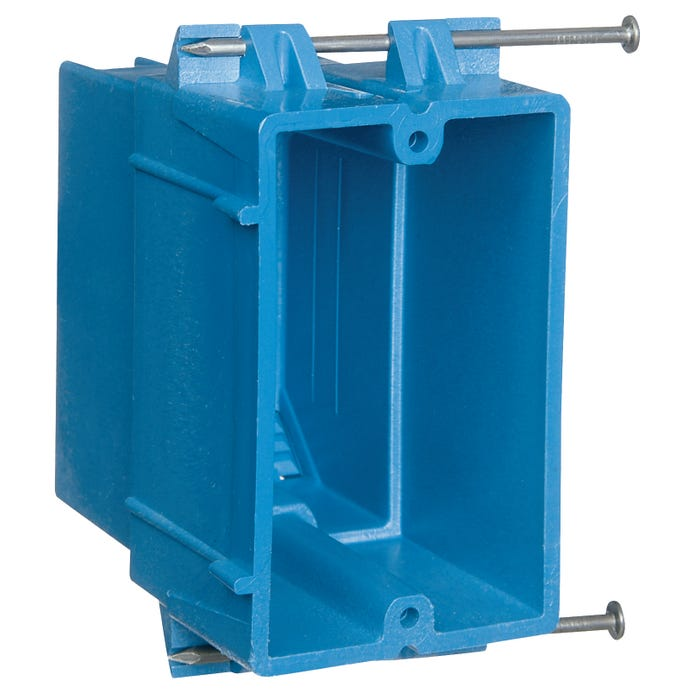 Image 2 of Carlon BH122A-UPC Outlet Box, Clamp Cable Entry, Nail Mounting, PVC