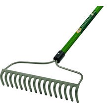 Image 2 of Landscapers Select Bow Rake, 16-Tine, 60 in. Fiberglass Handle