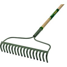 Image 2 of Landscapers Select Bow Rake, 16-Tine, 54 in. Wood Handle