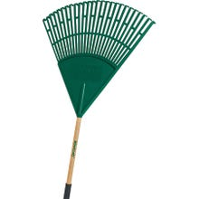 Image 2 of Landscapers Select Lawn/Leaf Rake, Poly Tine, Wood Handle