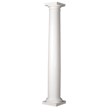 12 in. x 10 ft. Turncraft Poly-Classic FRP Tapered Round Column, Smooth with Cap & Base