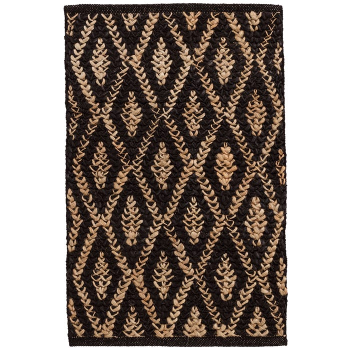 Dash & Albert Two-Tone Diamond  Woven Jute Rug