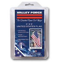Image 2 of Valley Forge USS-1 USA Flag, 5 ft W, 3 ft H, Polycotton