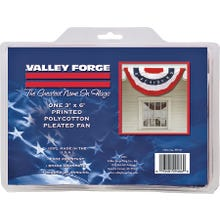 Image 2 of Valley Forge PFF-ST Full Fan Flag, 3 ft W, 6 ft H, Poly Cotton