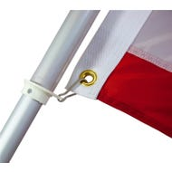 Image 1 of Valley Forge 60733 Flag Pole, 1 in Dia, Aluminum