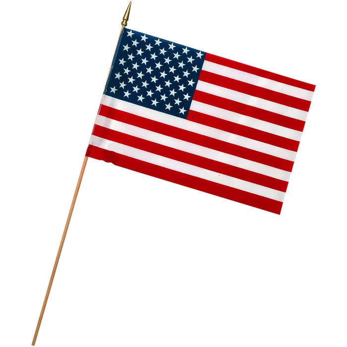 Image 2 of Valley Forge USE4D USA Stick Flag Display, Poly Cotton