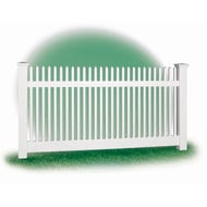 White Vinyl Picket Fence, 4 ft. x 8 ft. Section