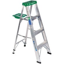 Image 1 of WERNER 354 Step Ladder, 225 lb Weight Capacity, 3-Step, Aluminum