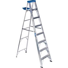 Image 1 of WERNER 368 Step Ladder, 250 lb Weight Capacity, 7-Step, Aluminum