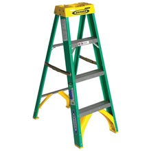 Image 1 of WERNER 5904 Step Ladder, 225 lb Weight Capacity, 3-Step, Fiberglass