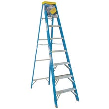 Image 1 of WERNER 6008 Step Ladder, 250 lb Weight Capacity, 7-Step, Fiberglass