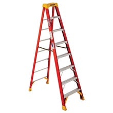 Image 1 of WERNER 6208 Step Ladder, 300 lb Weight Capacity, 5-Step, Fiberglass