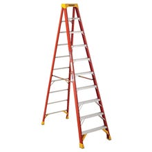 Image 1 of WERNER 6210 Step Ladder, 300 lb Weight Capacity, 9-Step, Fiberglass